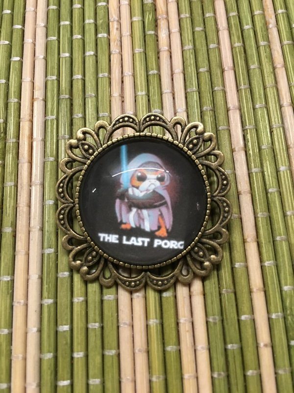 Star Wars Fanart Porg The Last Porg, Brosche, Anstecker, Pin