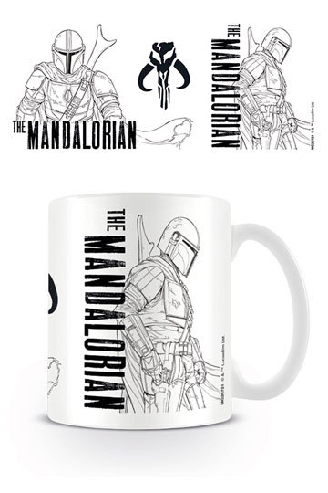 Star Wars The Mandalorian Tasse Line Art